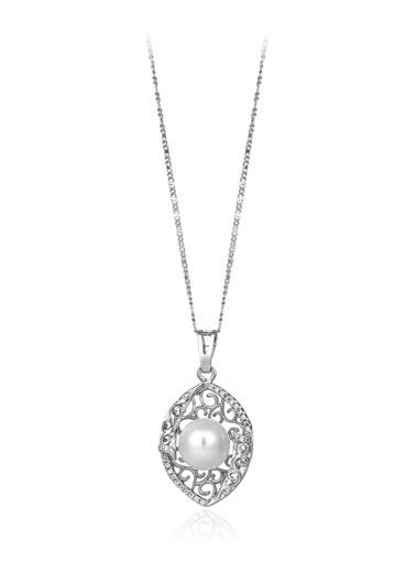 0,30 Ct Pırlanta Efekt Altın Vitta Pearl Kolye-Tophills Diamond Co.